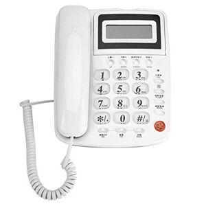 Yoidesu Teléfonos fijos con Cable Teléfono Fijo con batería y Pantalla de identificación de Llamadas para la Oficina en casaHotelSimple y Duradero