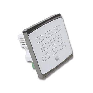 Ben & Fellows Amplificador de Audio para el hogar de 25 W, 4 Canales, Color Blanco, con Mando a Distancia inalámbrico, Compatible con 2 – 8 Altavoces, Bluetooth, Tarjeta SD, USB, etc.