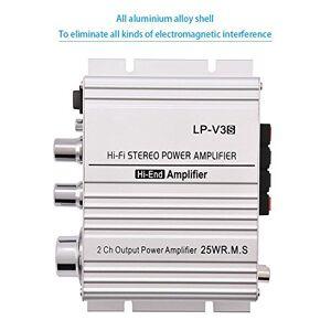 Bracon Amplificador de Potencia Car Audio Mini 2 Canales HiFi Stereo Auto Car Audio Amplificador de Potencia Amplificador Digital()