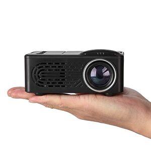 MeterMall Mini proyector LCD LED proyector portátil Home Theatre Cinema Video Media Player, Black UK Plug