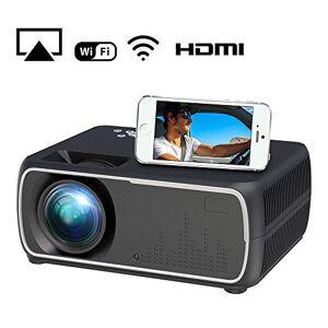 Aoile A20 Mini Proyector HD 1080P Proyector de TV Proyector de Cine en casa Same Screen Black EU Plug