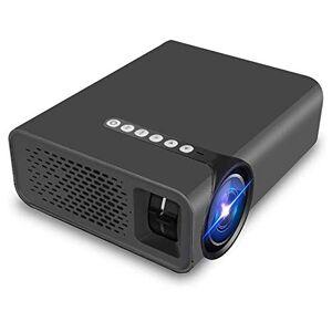 HAWK LI Proyector HD Conectar a Smartphone, 130 Pulgadas LCD de Cine en casa Ayuda del proyector 1080P AV USB HDM VGA SD para Home Entertainment, Partido y los Juegos (Black)
