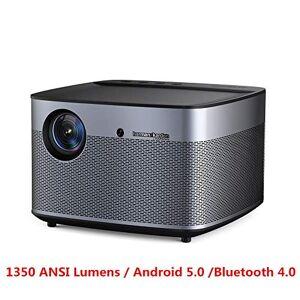beiping Proyector 1350 Lúmenes Ansi Full HD 4K 300 Pulgadas Home Theater Stereo Autofocus Bt4.0