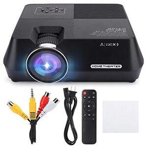 A sixx Proyector LCD 480P, Mini proyector, para Entretenimiento en el hogar(Black)