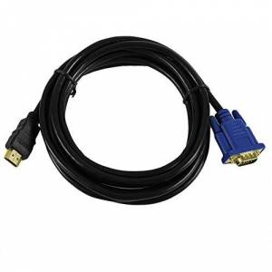 Titansic Cable HDMI a VGA Adaptador de 15 Pines Macho a Macho 1024 x 768p Velocidad de Transferencia rápida Negro 3 Metros