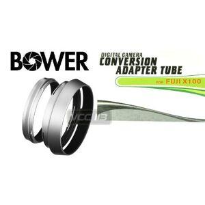 BOWER AFX10049 Fuji X100 Tubo Adaptador de 49 mm, Color Negro