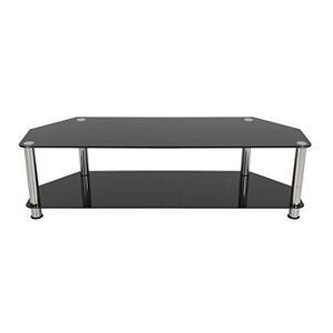 """AVF SDC1400-A Soporte de Piso para Pantalla Plana Portable Flat Panel Floor Stand Negro, Cromo 165.1 cm (65"""") Soporte de pie para Pantalla Plana (TV, 60 kg, 165.1 cm (65""""))"""
