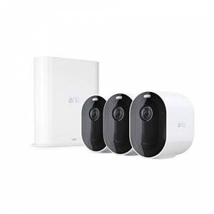 Arlo Pro 3 Home Security Camera System   Wire-Free 2K Video with HDR, Color Night Vision, Spotlight, 160 View, 2-Way Audio, Siren   Works with Amazon Amazon Alexa   3 Camera System