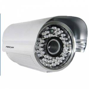 Foscam FI8905E Power Over Ethernet Outdoor IP Camera with 6 mm Lens, Night Vision, 30 Meters, White