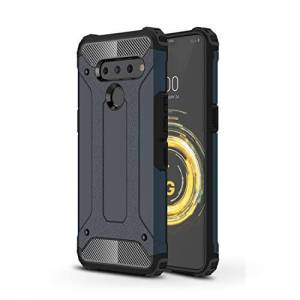 YKDY Magic Armor TPU Funda for PC for LG V50 ThinQ 5G (Color : Navy Blue)