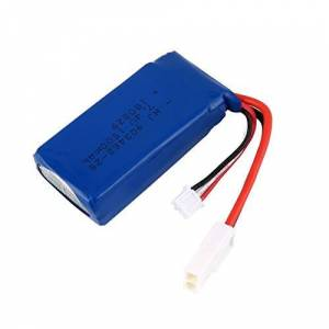KMtar5MX 2pcs 7.4V 1500mAh Lipo Rechargeable Battery with 2 IN 1 Charger for RC FT009 Boat Ship Spare Parts Accessories Component