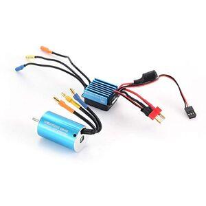 Henanxi 2845 3930KV Sensorless Brushless Motor with 35A Brushless ESC Electric Speed Controller for 1/14 1/16 1/18 RC Car Truck