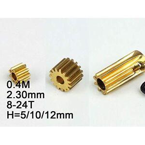 HATCHMATIC 2.3mm Modelo RC Metal Engranaje de piñón 0,4 M (Diã¡Metro del Agujero) 8T / 9T / 10T / 11T / 12T / 13T / 14T / 15T / 18T / 20T / 24T Altura: 5 mm / 10 mm / 12 mm: 0,4 M a 2,3 mm 24T 5MM