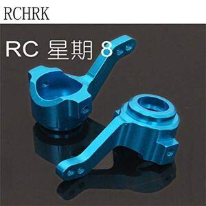HATCHMATIC 102011 Aluminio Direcciã³n de Cubo 2P para la Escala 1/10 HSP Himoto RC Recambios 02131: Blanco