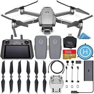 DJI Mavic 2 Pro Drone Quadcopter con Driver Inteligente con 2 baterías + SanDisk Extreme 64 GB + Almohadilla de Aterrizaje + Lector de Tarjetas y 1 año de garantía