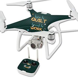 MightySkins Skin compatible con DJI Phantom 4 Quadcopter Drone Born to Quilt   Protectora, duradera y única cubierta de vinilo calcomanía   fácil de aplicar, quitar y cambiar estilos   fabricado en los Estados Unidos