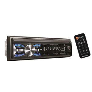 Soundstream Receptor de MP3 con Bluetooth integrado V3.0 manos libres para llamadas de audio, entrada USB AUX SD Card LED RGB colores AM/FM Radio estéreo, Reproductor multimedia digital de un solo chip Din, Negro