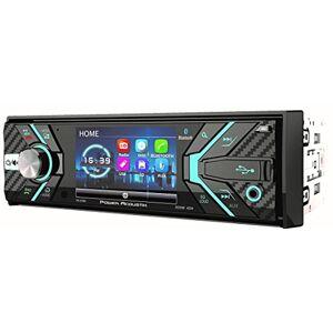 Power Acoustik 348B 1-DIN Receptor de CD/MP3, Am/FM con Bluetooth 4.0 y LCD Desmontable de 3,2 Pulgadas, Color Negro