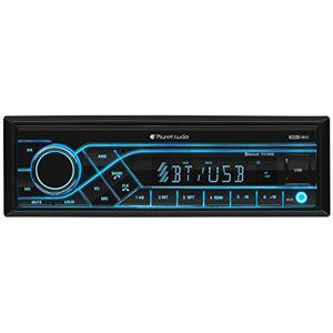 Planet Audio Receptor de coche (Bluetooth, MP3, USB, radio AM/FM, sin CD/DVD), Receptor de medios digital DIN sencillo, 8.40in. x 6.70in. x 3.20in.