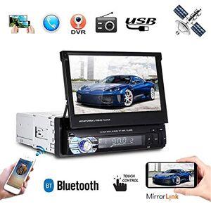 YOEDAF Reproductor Multimedia para Coche MP5 con visualización táctil y GPS y Bluetooth, cámara de Seguridad con Tarjeta de Mapa de 8 g, Compatible con sincronización de teléfono Celular