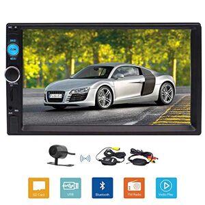 EinCar Universal 2 DIN Car MP5 Player 7 Inch Touch Screen Radio Bluetooth Illuminating Button SWC USB TF+Rear Camera