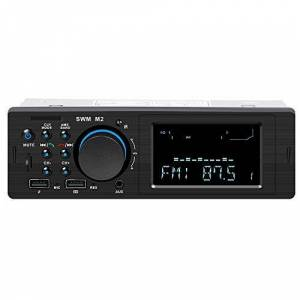 Mahaishangmao Audio Systems Multimedia Car Stereo, Bluetooth Audio integrado, CD/MP3/USB/AUX Entrada, Receptor de radio AM/FM, Control remoto inalámbrico