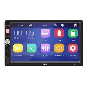 Mahaishangmao estéreo de coche, versión actualizada, pantalla táctil de 7 pulgadas, reproductor MP5 de coche, soporte de cámara de visión trasera, radio FM, audio de coche, con enlace de espejo manos libres