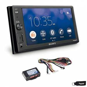 Sony XAV-AX1000 Compatible with CarPlay Bluetooth Receiver (No CD) with SWI-RC Steering Wheel Control Interface