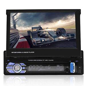 Sanpyl 7 en Reproductor estéreo de Auto MP5, Pantalla táctil telescópica vehículo Audio Radio FM Reproductor Bluetooth Multimedia para automóvil