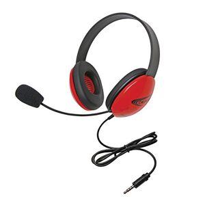 Califone Audífonos estéreo de Primera audición, Rojo (2800-RDT)