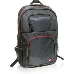 "V7 CBV21RT-9E maletin para portátil 40.9 cm (16.1"") Funda (Funda tipo mochila, 40.9 cm (16.1""), Tirante para hombro, 570 g, Negro, Rojo)"