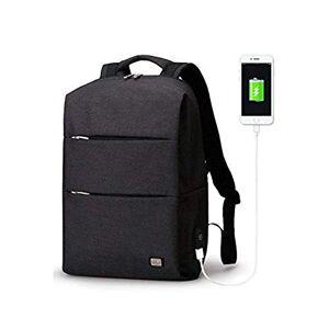 MARK RYDEN Business Mochila para portátil de poliéster resistente al agua con puerto de carga USB para portátiles y portátiles de 15,6 pulgadas