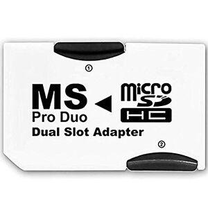 Desconocido Dual MicroSD MicroSDHC to MS PRO DUO Adapter. Converts Two MicroSD or MicroSDHC Cards To MS PRO DUO
