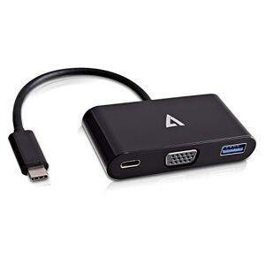 V7 UCVGA-HUB-BLK-1N External Video Adapter VGA USB-C, Black