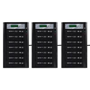 Spartan 12X 7 Targets Daisy-Chain SATA BLU Ray Tower Duplicator with Pioneer Drive