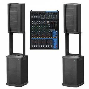Bose (2)  F1 Model 812 Flexible Array System Loudspeaker and Subwoofer + Yamaha MG12XU 12-Input 4-Bus Mixer with Effects