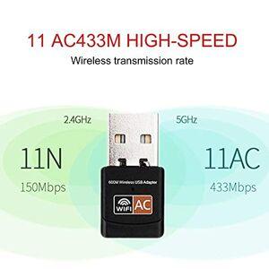 Lironheel 2.4GHz 5GHz Wireless WiFi Adapter Computer Network Card AC600Mbps USB WiFi Aerial Dual Band Mini PC WiFi Adapter