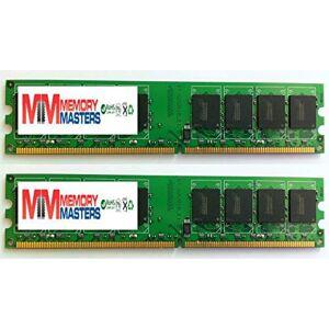 MemoryMasters Memoria RAM de 4 GB (2 x 2 GB) DDR2 DIMM (240 pines) AM2 800 MHz PC2 6400 / PC2 6300 para Jetway JHA07-ULTRA-LF 4 GB