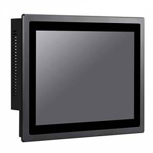 HUNSN 12 Inch IP65 Industrial Touch Panel PC,All in One Computer,10 Points Capacitive TS,Windows 7/10,Linux,Intel J1900,(Black), WD13,[3RS232/VGA/LAN/5USB2.0/1USB3.0/Audio],(8G RAM/128G SSD/1TB HDD)