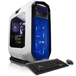 CybertronPC Thallium X99 Gaming Desktop Liquid-Cooled Intel i7-5960X 3GHz Octa-Core Processor, 64GB DDR4 Memory, 3x NVIDIA GTX980 Ti (6GB GDDR5) SLI Graphics, 400GB SSD, 3TB HDD, Windows 10