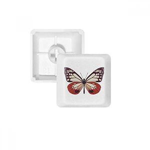 DIYthinker Ejemplar de Mariposas en Rosa pálido y Rojo PBT Keycaps para Teclado mecánico Blanco OEM sin impresión de Marca, Multicolor, R1