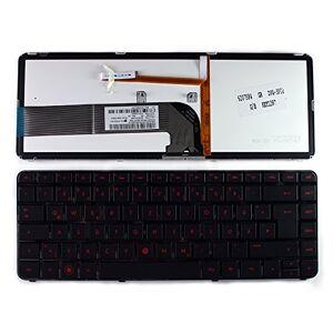 Keyboards4Laptops HP 670626-041 Marco Negro Brillante Retroiluminada Negro Layout Alemán Teclado para Ordenador portátil