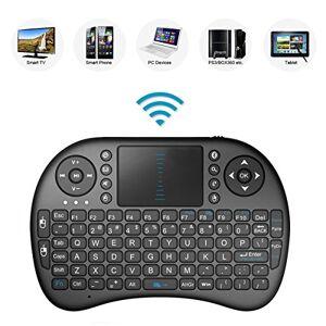 Porum Mini Teclado inalámbrico portátil DE 2,4 GHz con touchpad, Mando a Distancia con batería Recargable de Iones de Litio para Smart TV JVC LT-32C360 de 32 Pulgadas