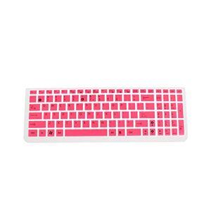 PrettyR Cubierta protectora para teclado resistente al polvo, resistente al agua, para teclado de computadora portátil, de goma, color negro