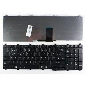 Keyboards4Laptops Alemán Negro Teclado de Repuesto para Ordenador portátil Compatible con Toshiba Satellite C660-2Q8