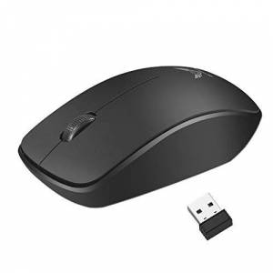CloverUS Wireless Silent USB Optical Ergonomic Gaming Mouse for Laptop PC