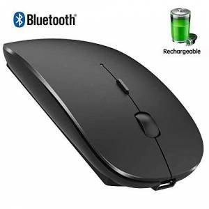 DHLL Mouse inalámbrico Recargable para MacBook Pro con Bluetooth para MacBook Pro Air, computadora portátil, MacBook, Mac y Windows, Negro
