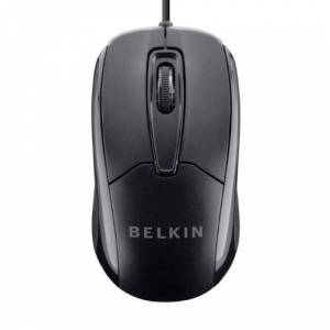 Belkin 3-Button Wired USB Optical Mouse with 5-Foot Cord, Compatible with PCs, Macs, Desktops and Laptops, Black F5M010qBLK