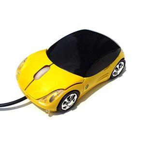 ABM Mouse Nuevo ratón de Coche con Cable Ratón USB con Cable Amarillo Transmisión Estable 2.4G Luces de Colores (2PCS)