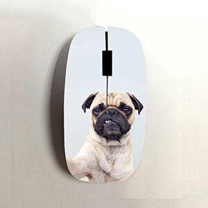 Gogh Yeah Usar como Bluetooth Mouse A Prueba De Tiempo para El Hombre Impresi¨n Pug Dog Pl¨Stica